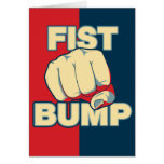 Fist Bump Greeting Cards