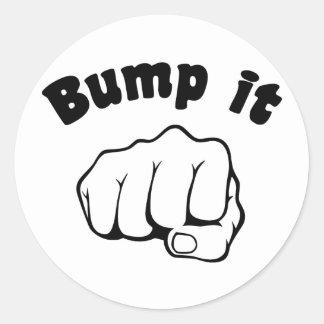 Fist Bump It Classic Round Sticker
