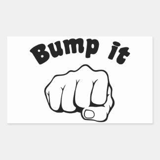 Fist Bump It Rectangular Sticker