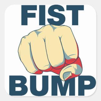 Fist Bump Square Stickers