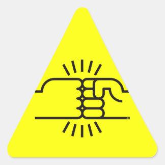 Fist Bumps Ahead Stickers