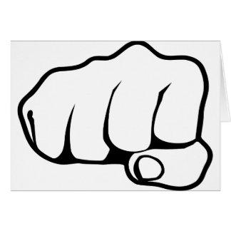 Fist Greeting Card