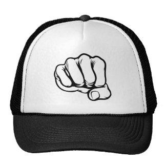 Fist Cartoon Comic Book Style Trucker Hat