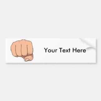 Fist Closed Hand Sign Gesture Bumper Sticker