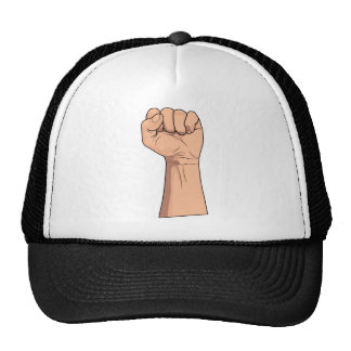 Fist Closed ~ Hand Sign Gesture Trucker Hats