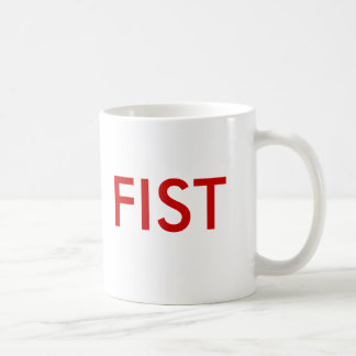 FIST CUP CLASSIC WHITE COFFEE MUG