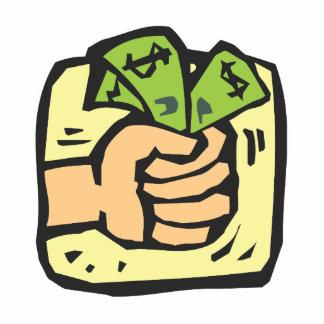 Fist full of money cutout