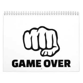 Fist game over wall calendars