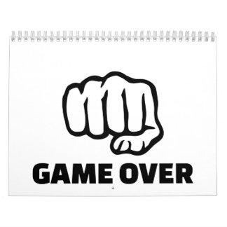 Fist game over calendar