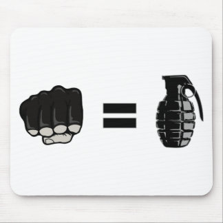 fist = grenade mouse pads