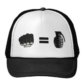 fist = grenade trucker hat