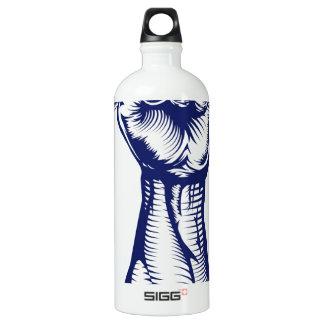 Fist holding up money SIGG traveler 1.0L water bottle