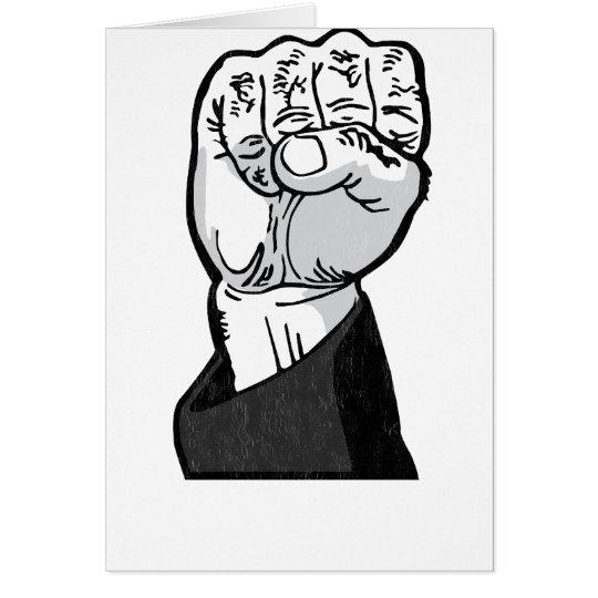 fist in the air card