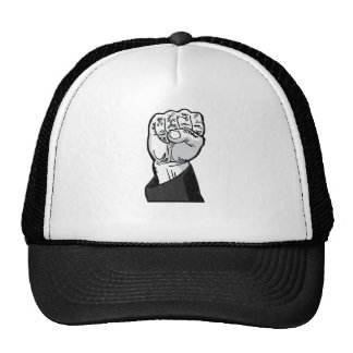 fist in the air trucker hat