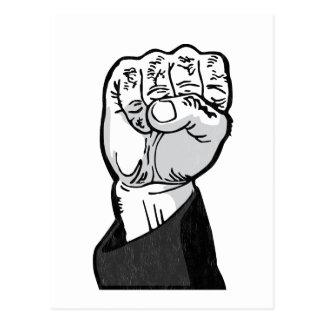 fist in the air postcard