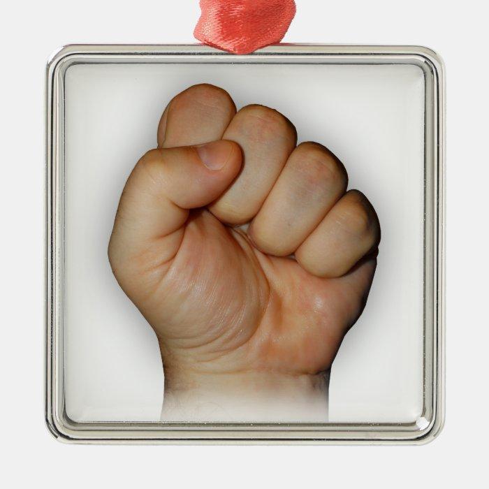 fist metal ornament