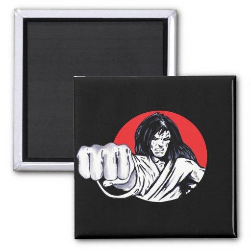 Fist of Revenge 2 Inch Square Magnet