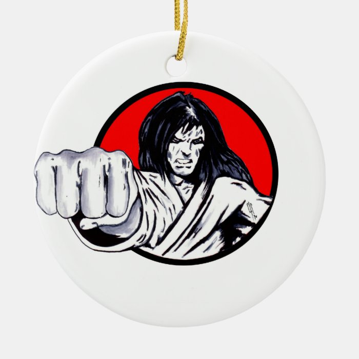 Fist of Revenge Ceramic Ornament