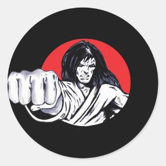 Fist of Revenge Classic Round Sticker