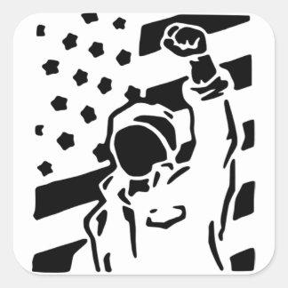 Fist Pump USA flag Sticker