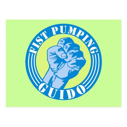 Fist Pumping Guido Post Card