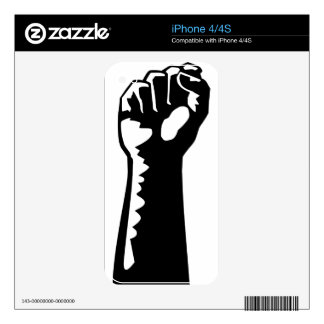 Fist Raised Decals For iPhone 4S