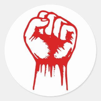 Fist Stickers Round Sticker