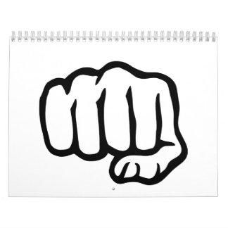 Fist symbol calendar
