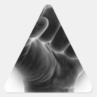 fist triangle sticker