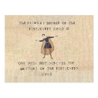 Fisticuffs Guild Postcard