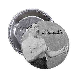 Fisticuffs heavyweight champion pinback buttons