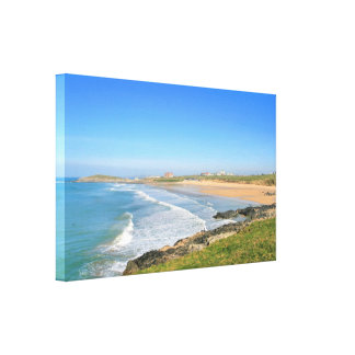 Fistral Beach at Newquay in Cornwall Canvas Print
