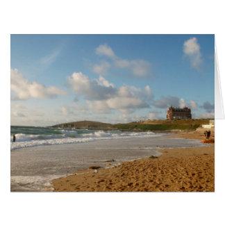 Fistral Beach Newquay Cornwall England Card