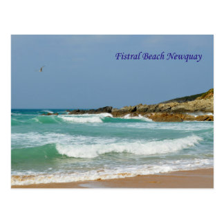 Fistral Beach Newquay Cornwall England Postcard