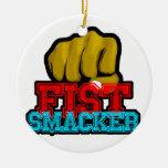fistsmacker ornamento para arbol de navidad