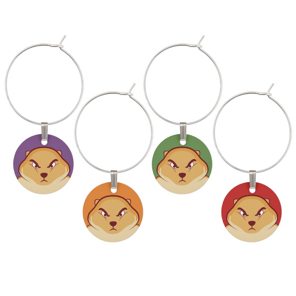 Fisty Wine Charms
