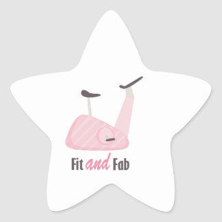 Fit And Fab Star Sticker