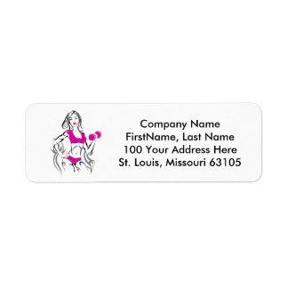 Fit Chick w Lipstick- Pink Label