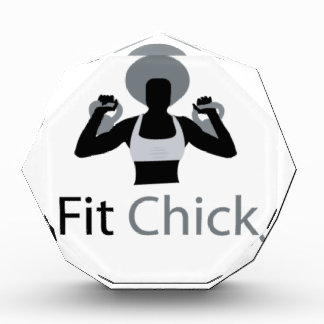 Fit Chick with Afro holding kettlebells Award