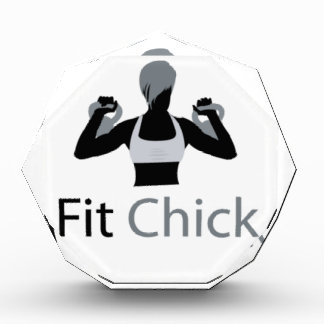 Fit Chick with Kettlebells Acrylic Award