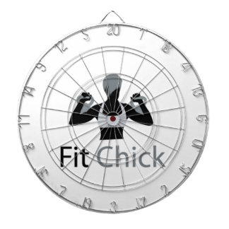 Fit Chick with Kettlebells Dart Board
