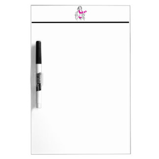 Fit Chick with Lipstick- Pink Dry-Erase Boards