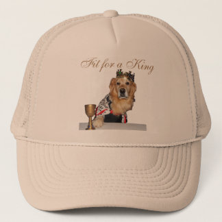 """Fit for a King"" Golden Retriever Trucker Hat"