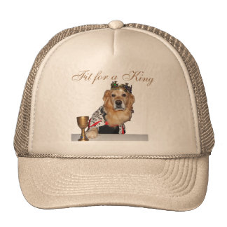 """Fit for a King"" Golden Retriever Trucker Hat"
