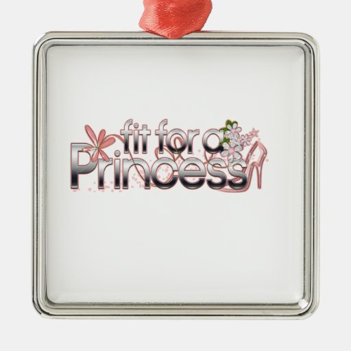 Fit for a Princess Girl Glass Slipper Metal Ornament