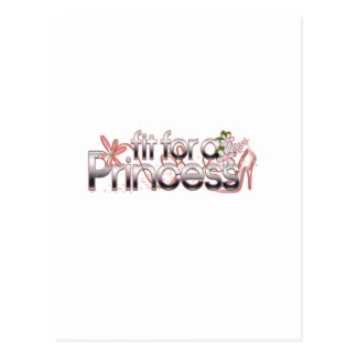 Fit for a Princess Girl Glass Slipper Postcard