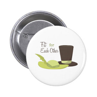 Fit For Each Other 2 Inch Round Button