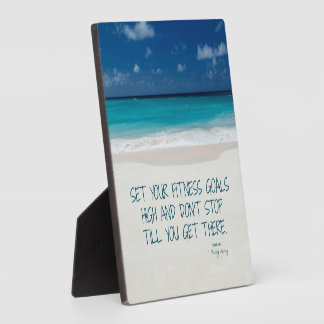 Fit for the Beach Mini-Print with Easel 1 Plaque