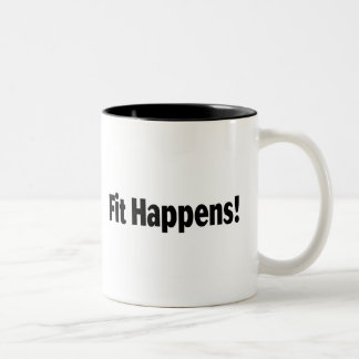 Fit Happens Two-Tone Coffee Mug