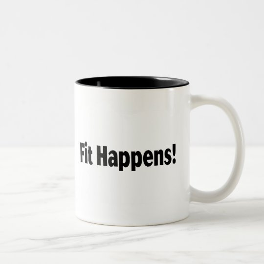 Fit Happens Two-Tone Coffee Mug